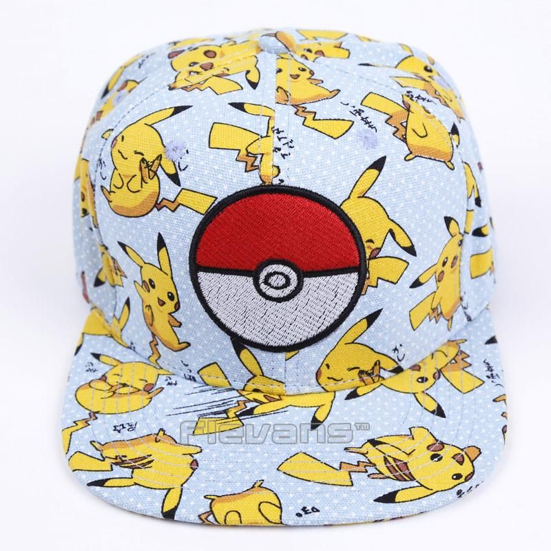 Pokemon Go Pikachu Full Print Adult Baseball Cap Adjustable Hip Hop Sun hat