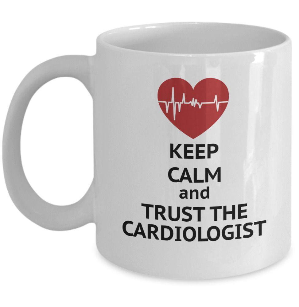Cardiology mug keep calm and trust the cardiologist