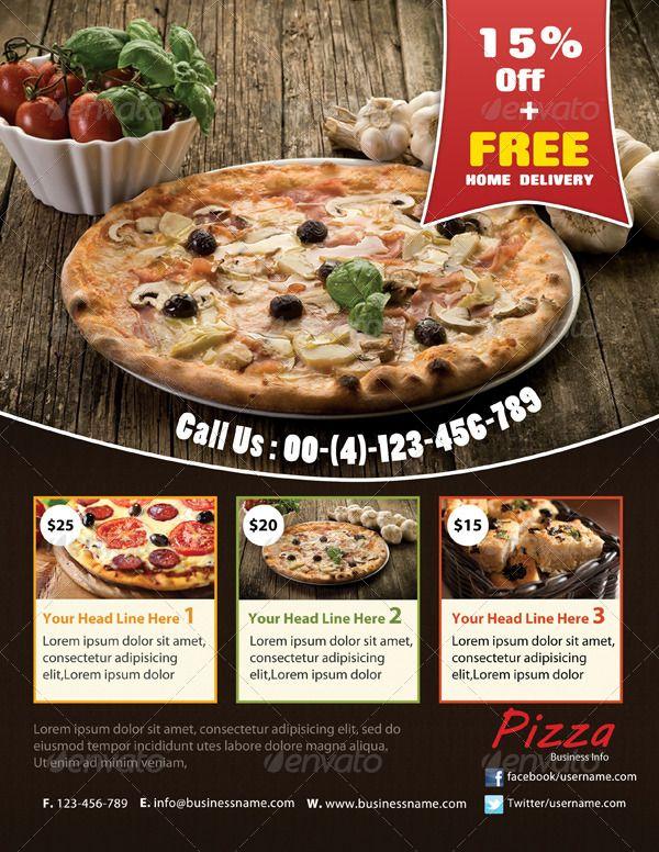 Pizza Flyer | Flyer-Vorlage | Pinterest