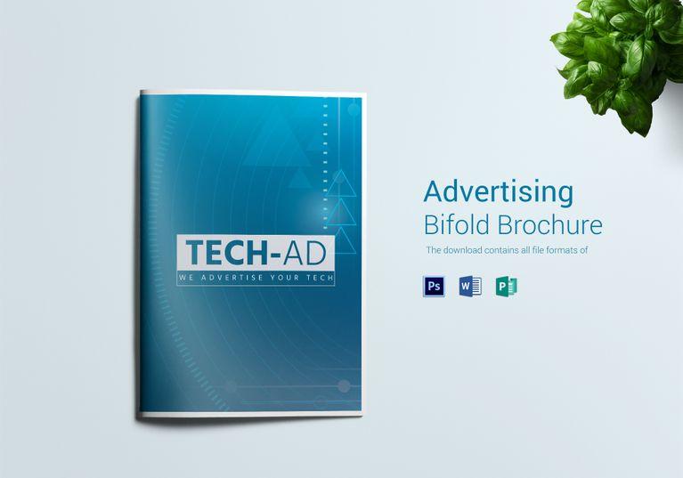 Advertising Bi Fold Brochure Template Bi Fold Brochure Brochure