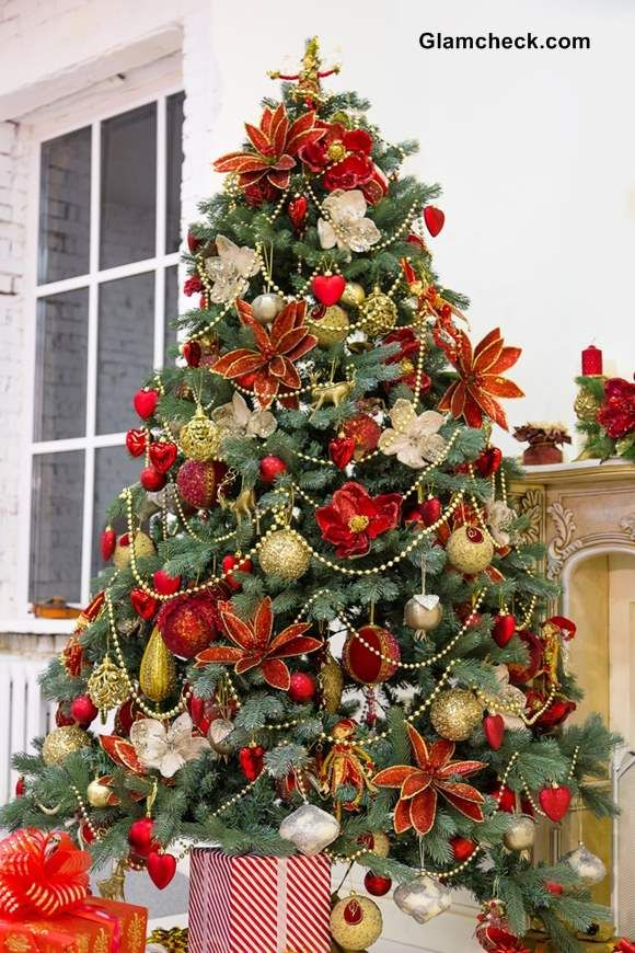 Christmas Tree Decoration Red And Green