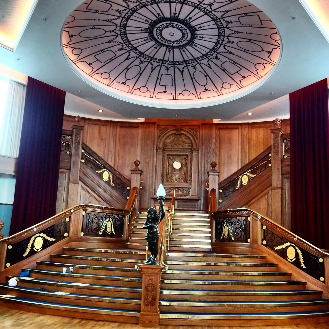 Titanic Belfast Has A Replica Of The Famous Staircase Of The Titanic Movie Read More About This Museum In Ireland Honeymoon Belfast Ireland Ireland Road Trip
