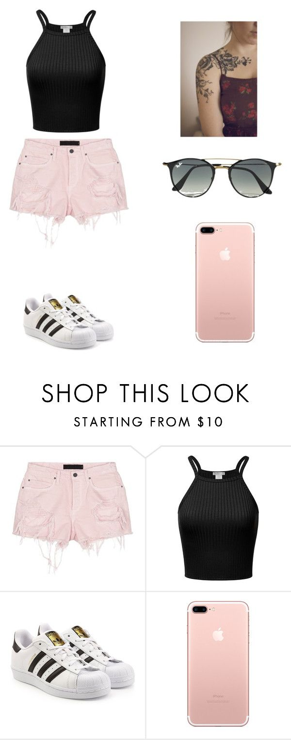 """Sin título #254"" by karenrodriguez-iv on Polyvore featuring moda, Alexander Wang, adidas Originals y Ray-Ban"