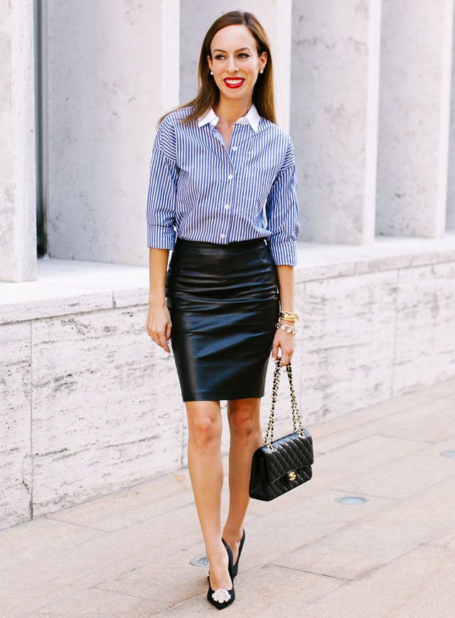 Fashion Leather Skirt | Jill Dress