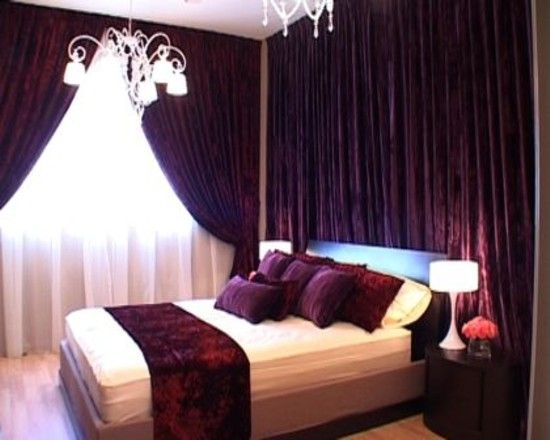 love the look of dark purple and whiteoff white cant wait to – Dark Purple Bedroom