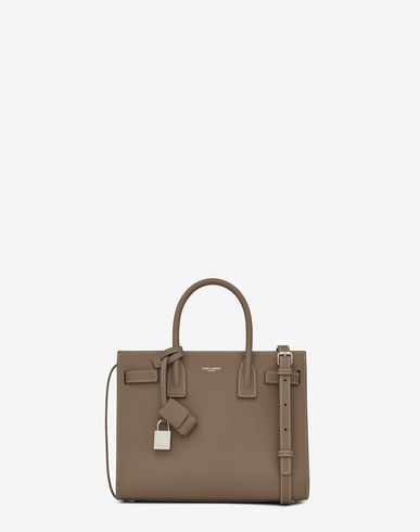 f131591e93 SAINT LAURENT Classic Baby Sac De Jour Bag In Taupe Grained Leather ...