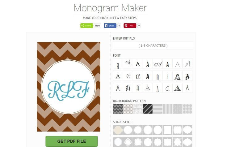 6 Free Monogram Makers Maker