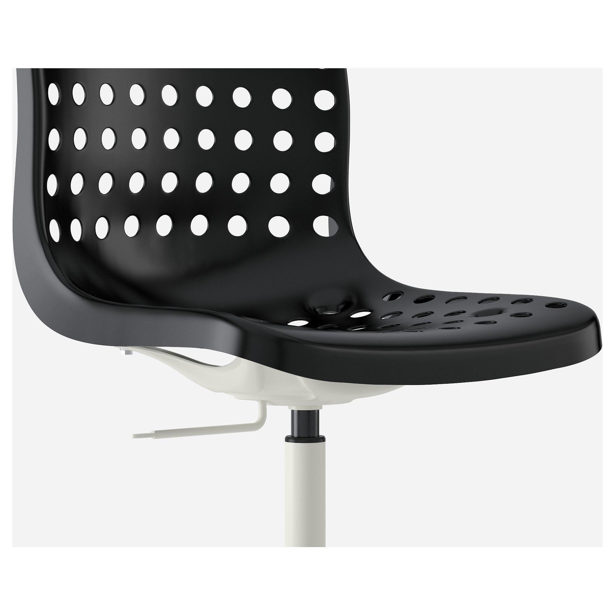 IKEA SKALBERG / SPORREN Black, White Swivel chair Swivel