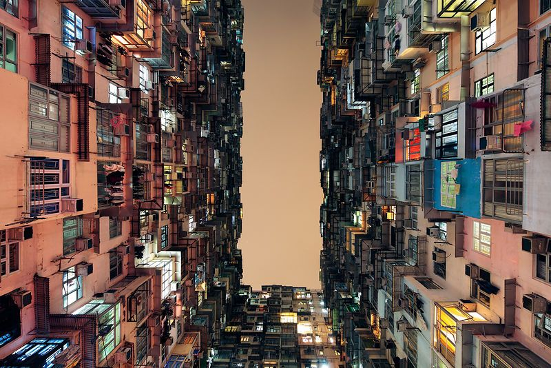 Arcaid Images Shortlist For Architectural Photograph Of The Year Buildings  In Use Category:Yick Cheong Building, Hong Kong, By Public Housing  Development, ...