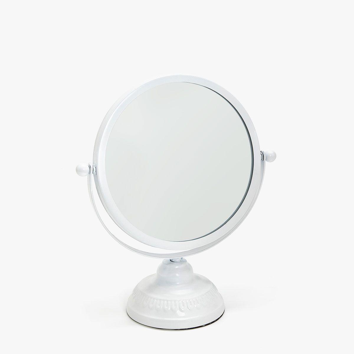 Round mirror with base   Round mirrors, Bath accessories and Bath