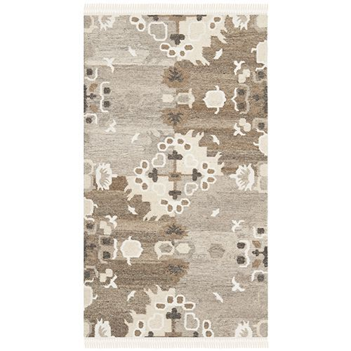 Natural Kilim Grey and Multi-Colored Rectangular: 8 Ft. x 10 Ft. Rug - (In Rectangular)