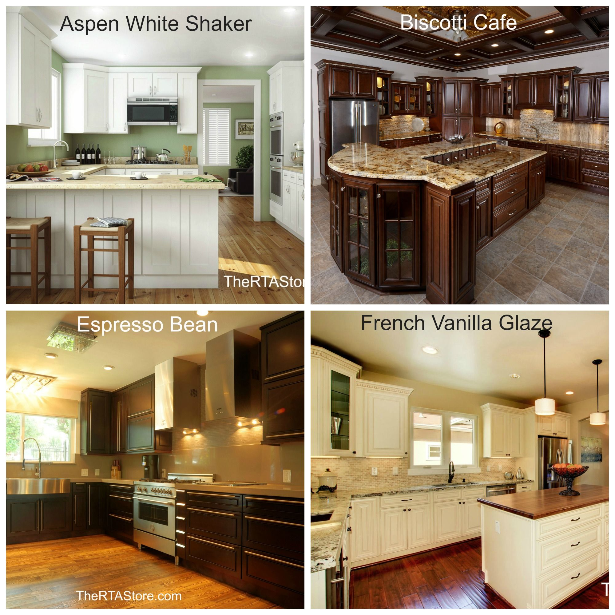 Which Kitchen Is Your Favorite Aspen White Shaker Biscotti Cafe