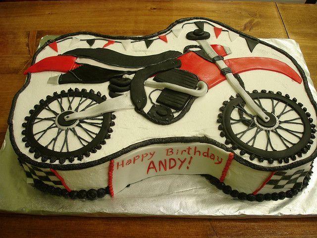 dirt bike cake Dirt Bike Sheet Cake Flickr Photo Sharing
