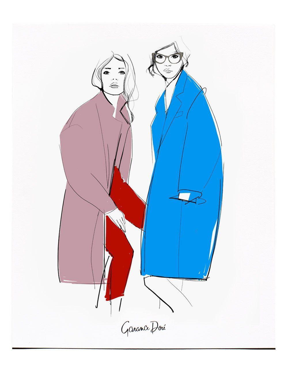 Coats /Print /Poster / Atelier Doré/ Fashion Illustration/ Garance Doré