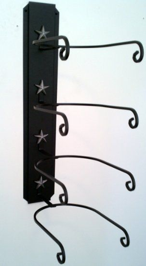Amazon Com Cowboy Hat Rack Black With Silver Stars American Made Free Standing Hat Racks Cowboy Hat Rack Hat Rack Diy Hat Rack