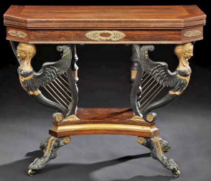 duncan phyfe empire table Empire Furniture Isnt Always Empire Furniture - The Gold Sconces With Black Lion Heads Would Make A Perfect