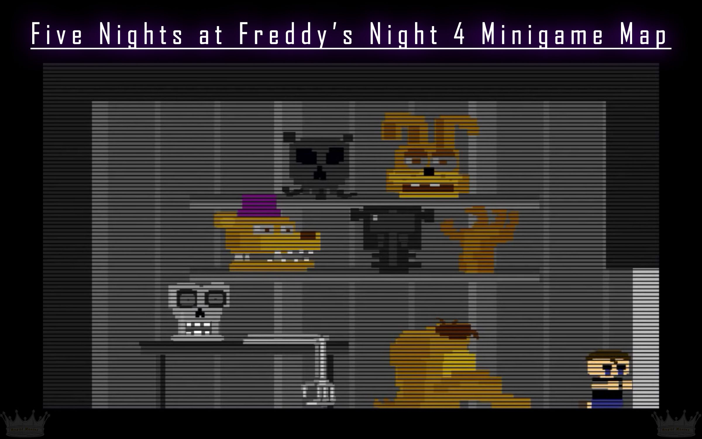 Five Nights at Freddy's 4 Night 4 Map #RedditGaming #fnaf #4 #FiveNightsatFreddys4 #Scottgames #steam