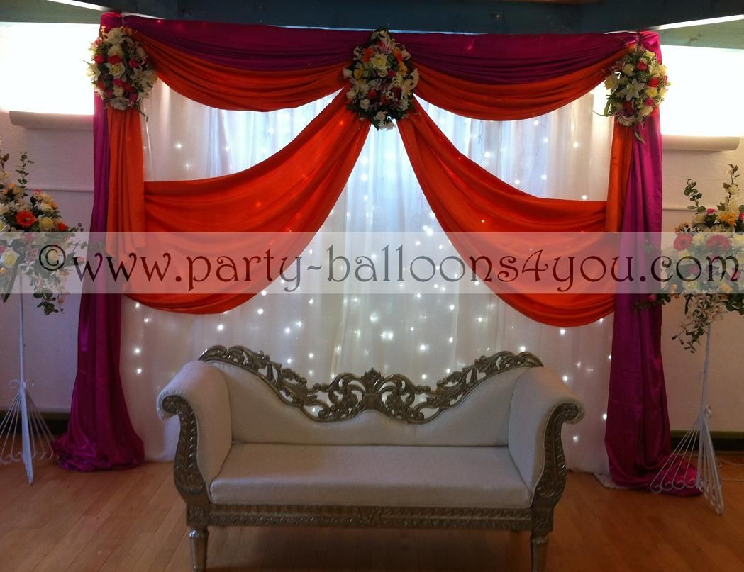 Mehndi Stage Hire : 20s decorating wedding balloons fresh & silk flowers pew end bows