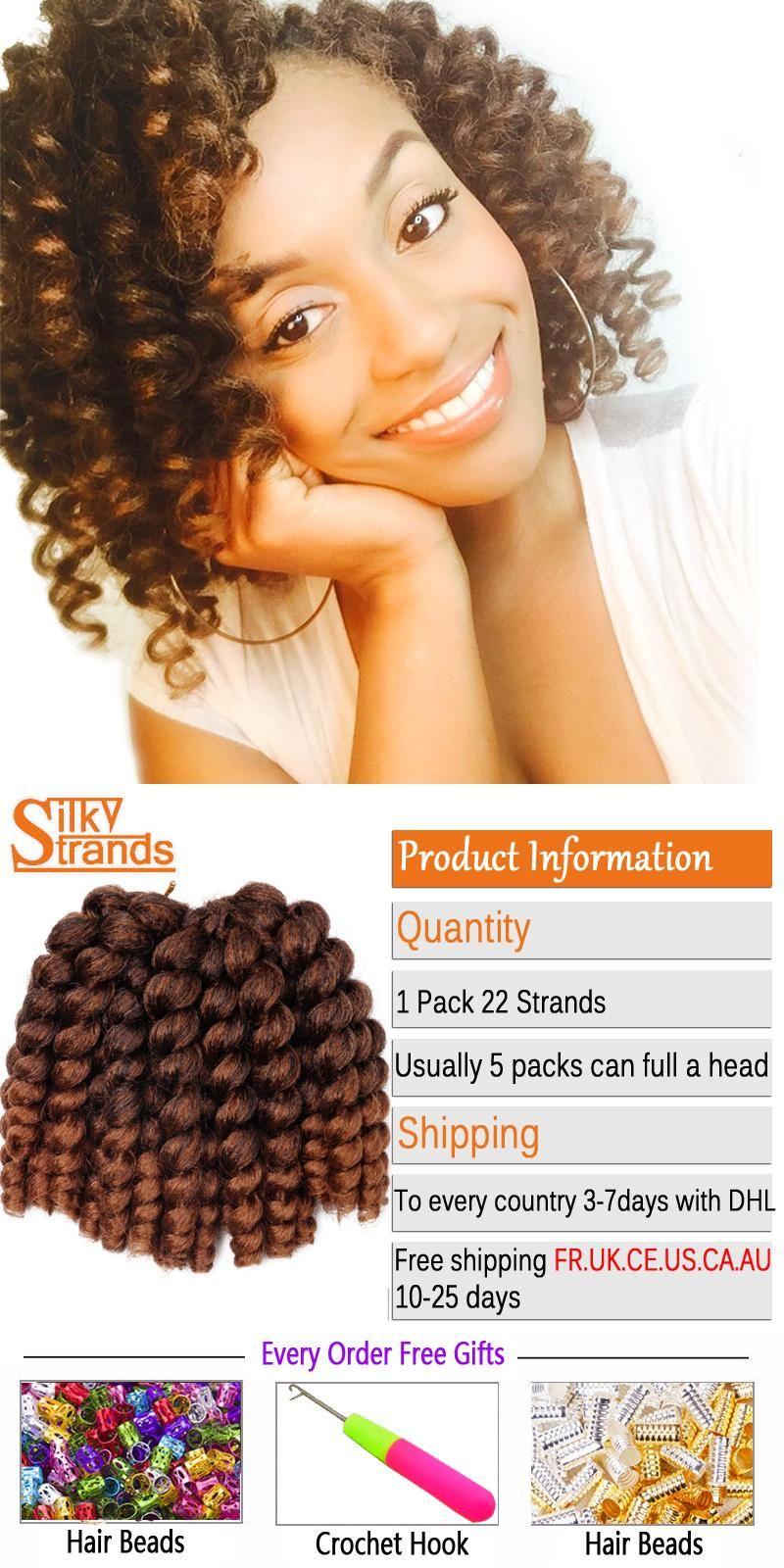 Silky Strands Ombre Jumby Wand Curls Twist Crochet Hair Extensions