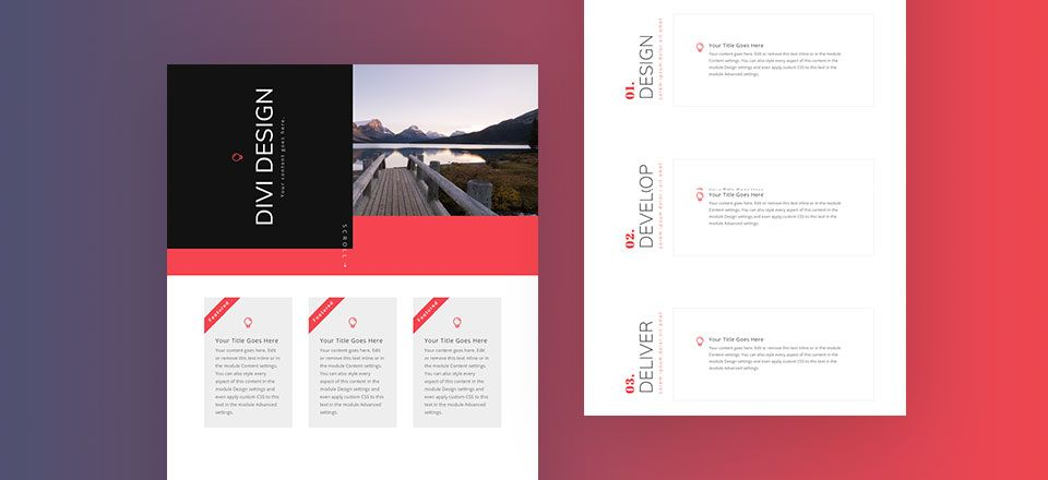 How To Rotate Text For Unique Layout Designs In Divi Tutorial Free Layout Download Unique Layout Design Layout Download Unique Layout