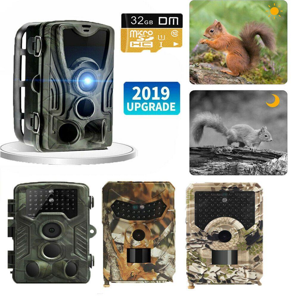 Wildkamera Jagdkamera Outdoor 1080P 12MP Überwachungskamera Nachtsicht Neu