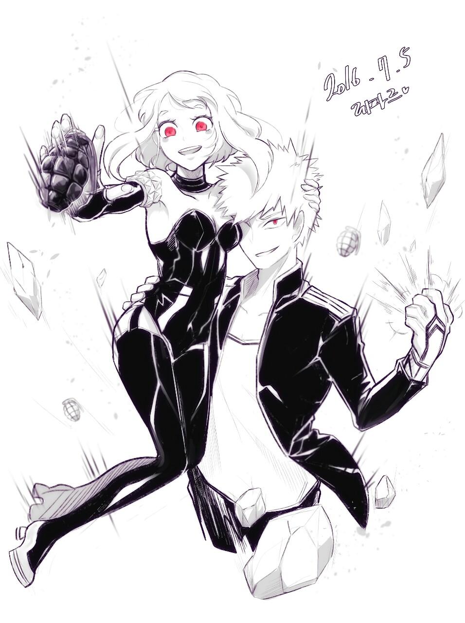 Katsuki Bakugo And Ochako Uraraka As Villains Hero Boku No Hero Academia Anime People