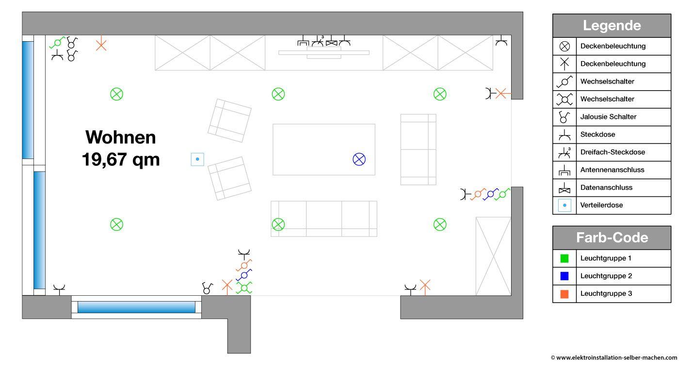 Elektroinstallation selber machen Wohnzimmer DIY ...