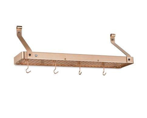 Enclume Narrow Shelf Pot Rack, Copper