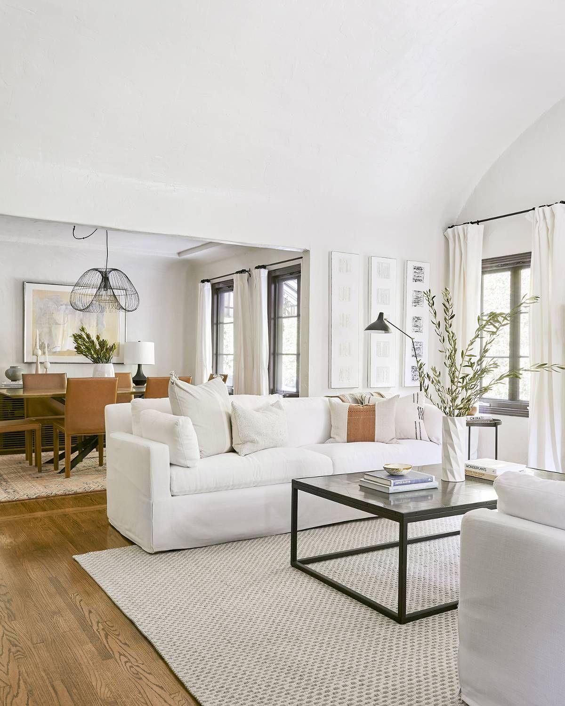 A 1920s Spanish Style Bungalow Gets A 120k Makeover Step Inside Living Room Modern Living Room Designs Livingroom Layout