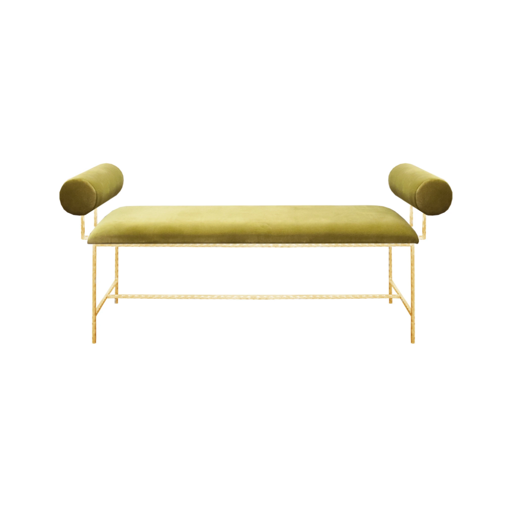 Worlds Away Miller Bench In 2020 Upholstered Bench Gold Bench Retail Furniture