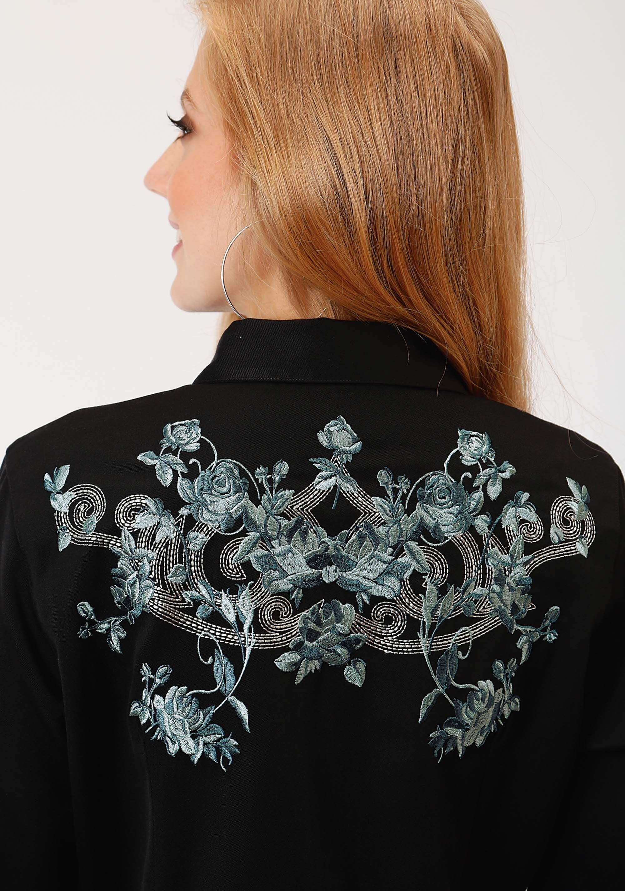 Womens Embroidered Cowgirl Shirt - Western Bloom