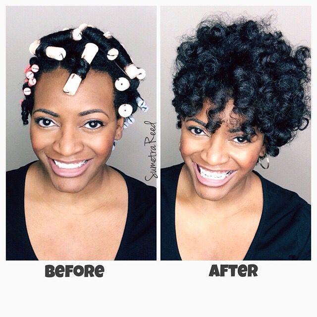 Perm Rod Set On Natural Hair Sumetra Reed Natural Hair Blow Outs