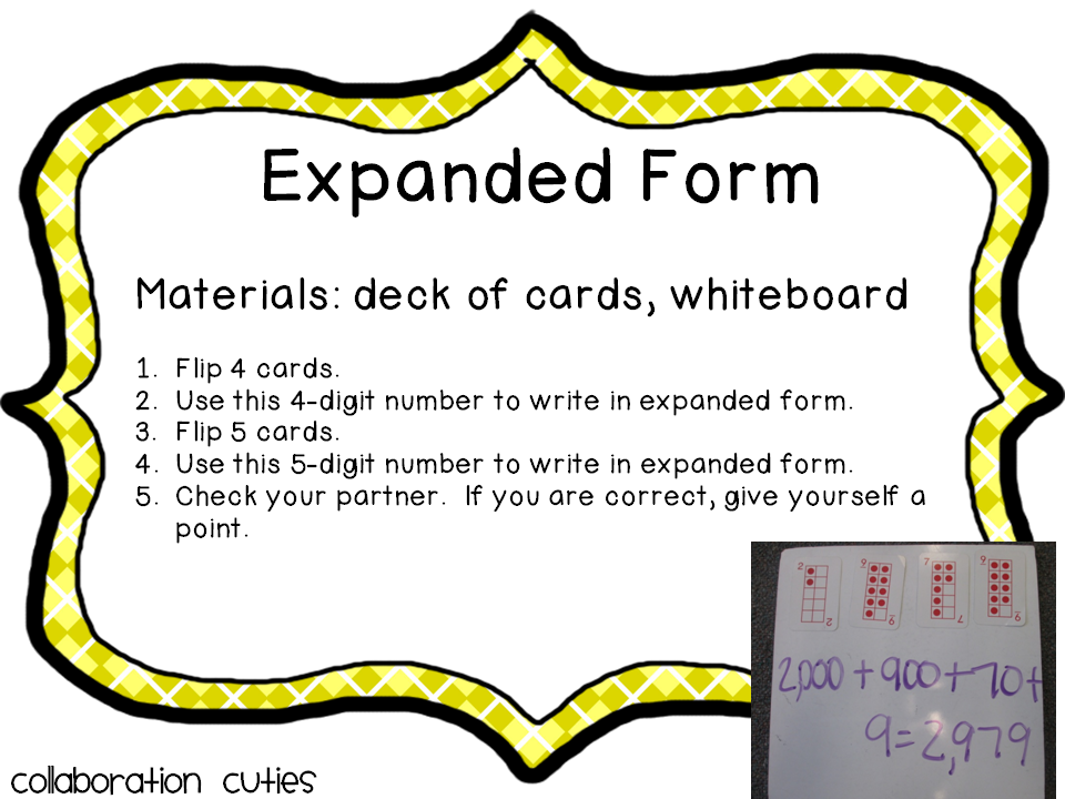 Expanded Form Game Math Pinterest Expanded Form And Maths