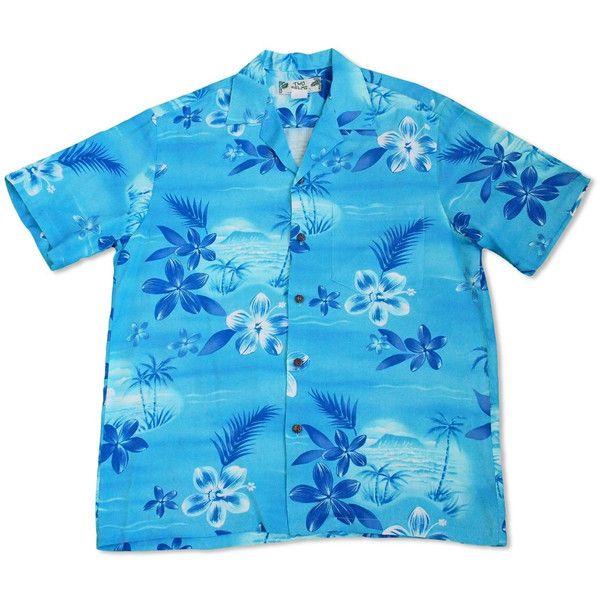 Aurora Blue Hawaiian Rayon Shirt