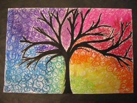 Color Wheel Trees   Elements of Art - Color Lessons   Pinterest ...