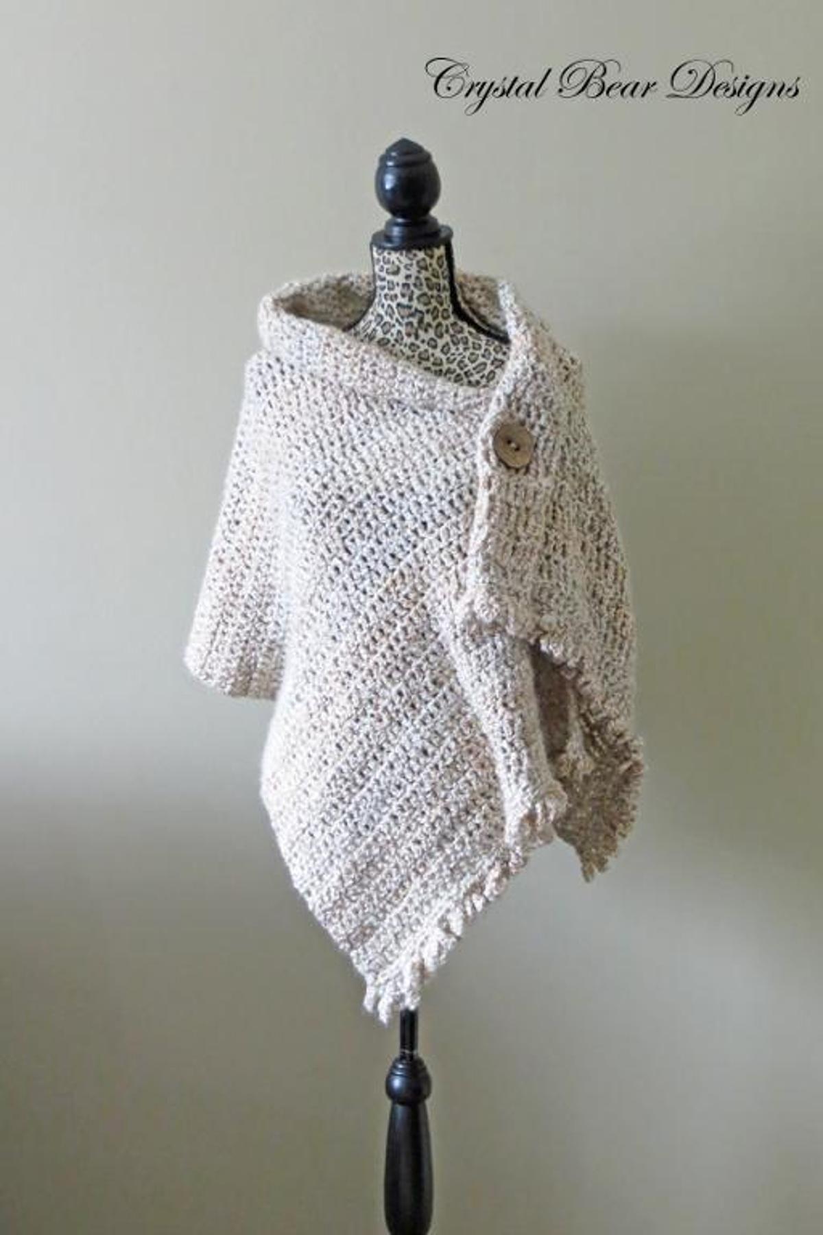 Dresden Wrap Easy Crochet Shawl Pattern | Craftsy | tejido ...