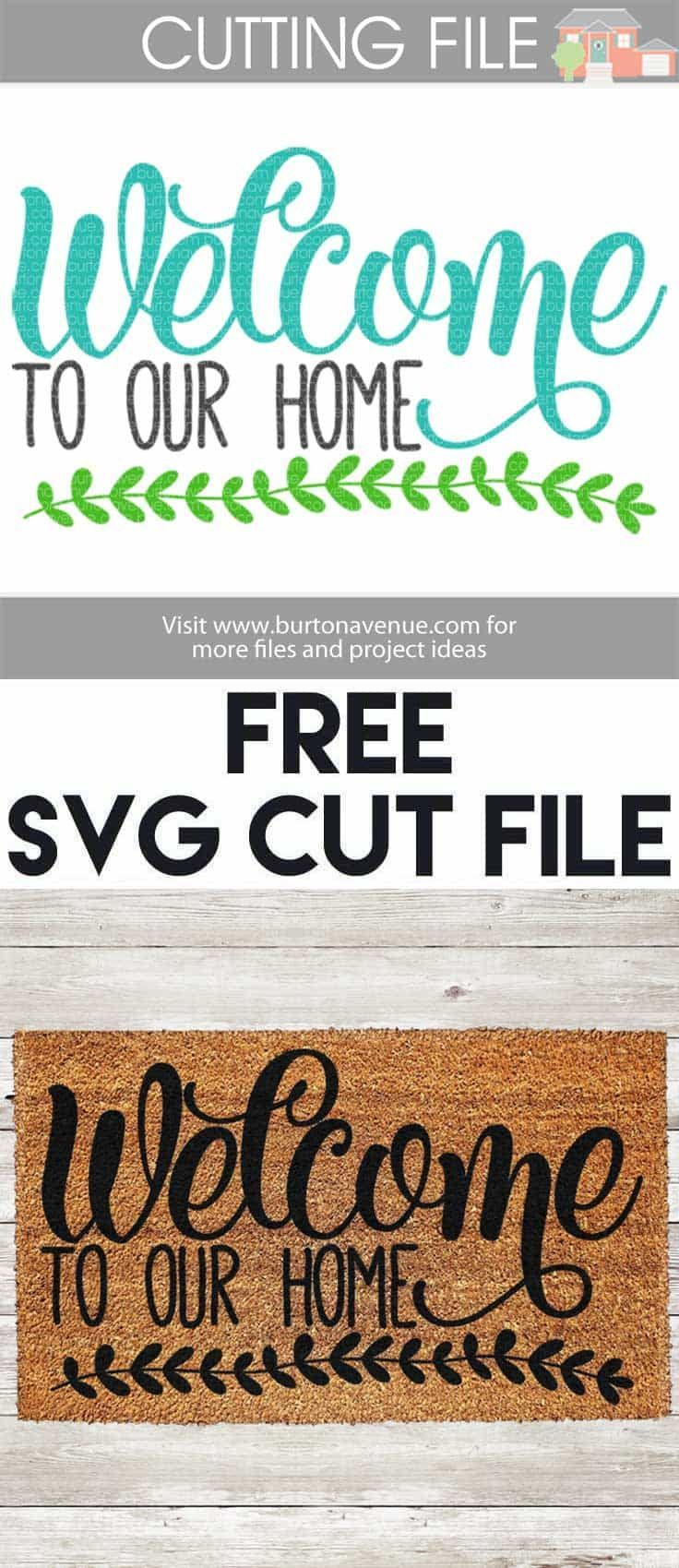 Welcome to our home svg cut file cricut silhouettes and filing