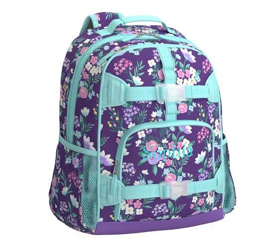 Mackenzie Purple Flower Bouquet Backpack Purple Flower
