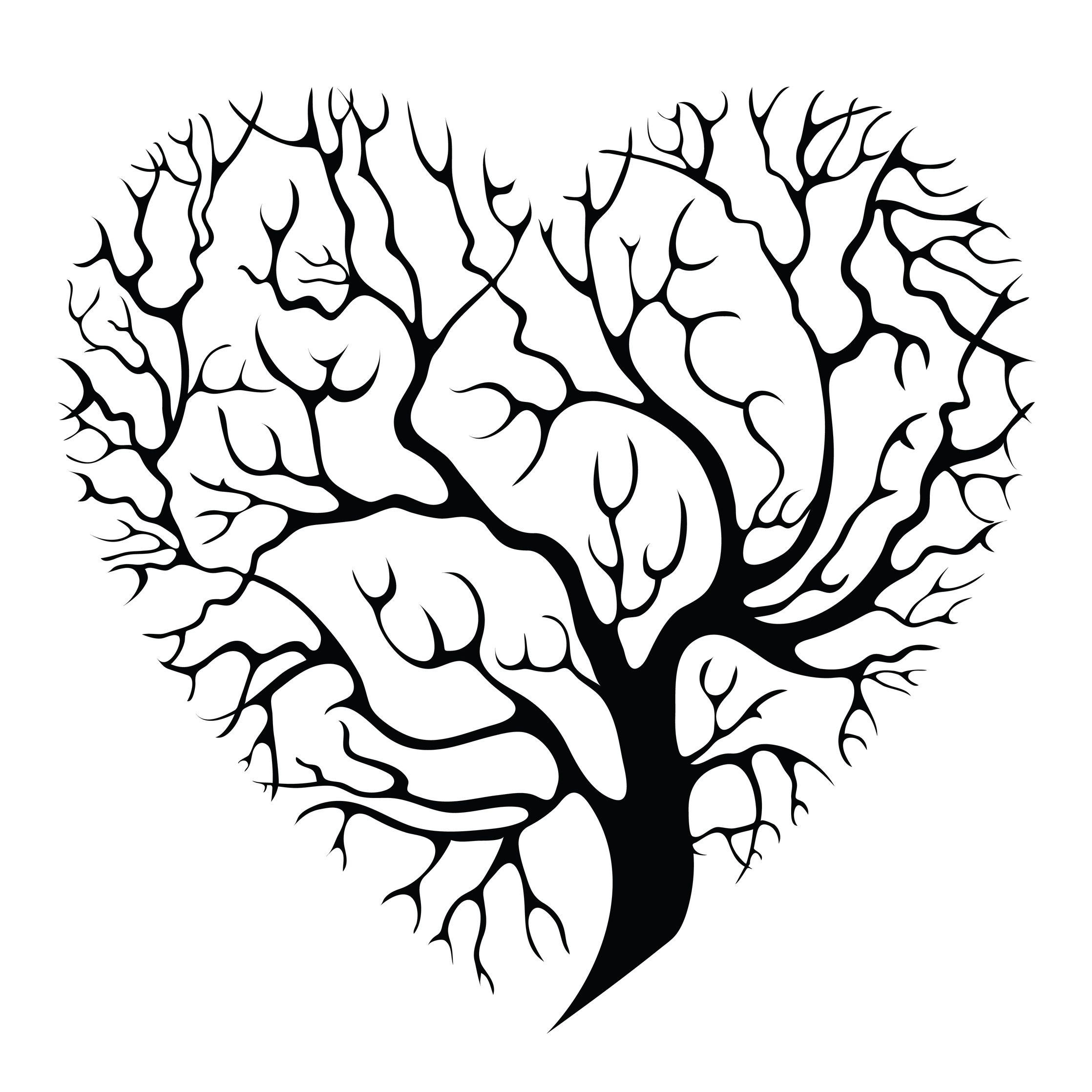 Oak tree tattoo, Tree