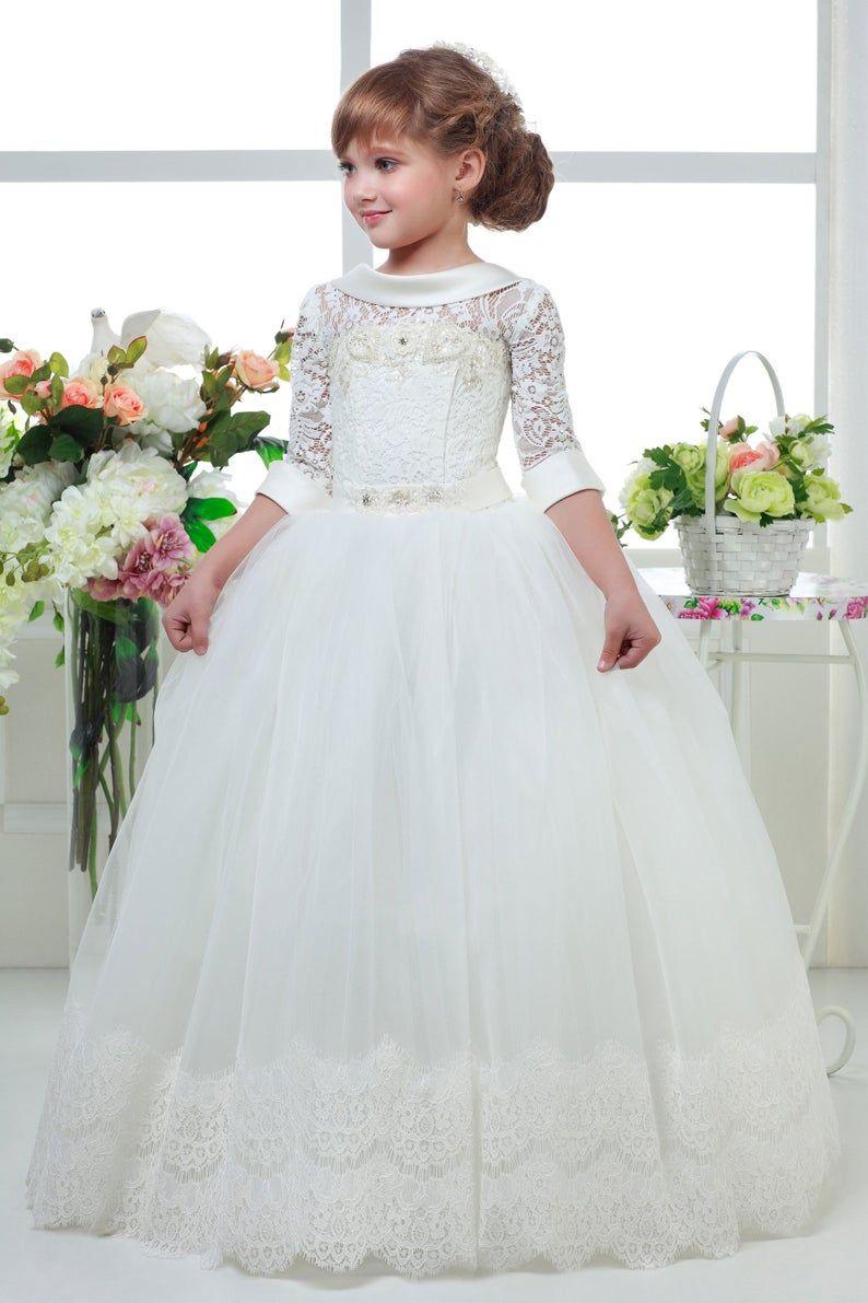 Ivory White Communion Dresses First Communion Dresses 2020 Etsy Girls Pageant Dresses First Communion Dresses Toddler Flower Girl Dresses [ 1191 x 794 Pixel ]
