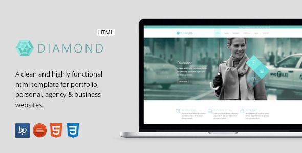 Diamond responsive business html5 template template personal diamond responsive business html5 template flashek Choice Image
