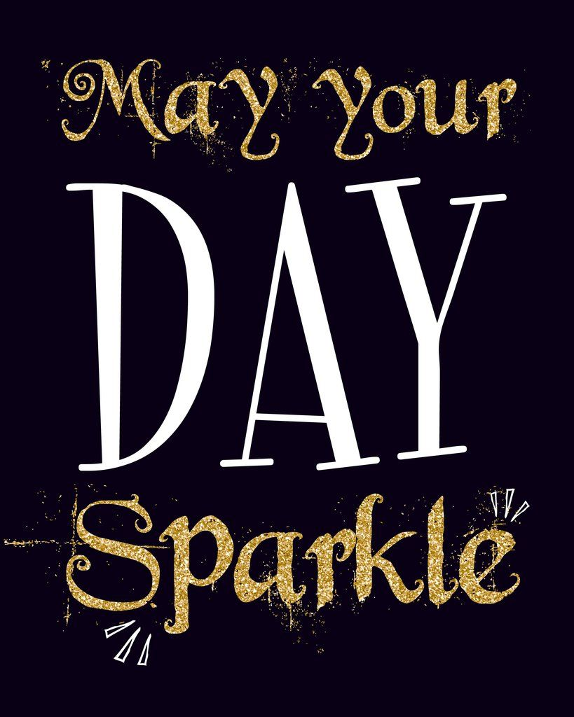 May Your Day Sparkle Wall Art Print Inspirational Quote
