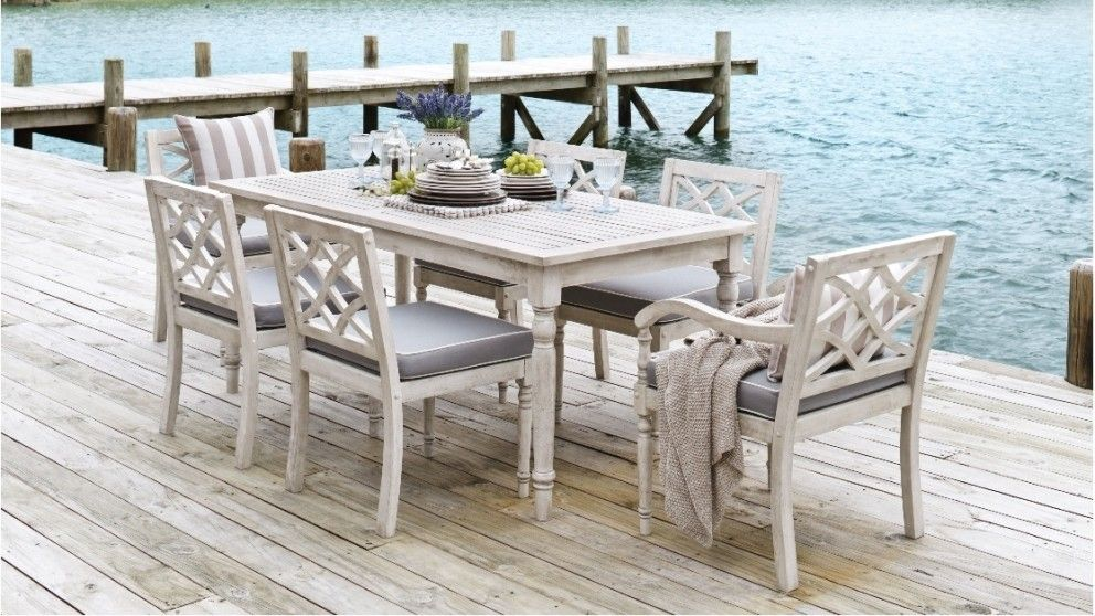 Marie 7 Piece Outdoor Dining Setting - Outdoor Dining | Harvey ...
