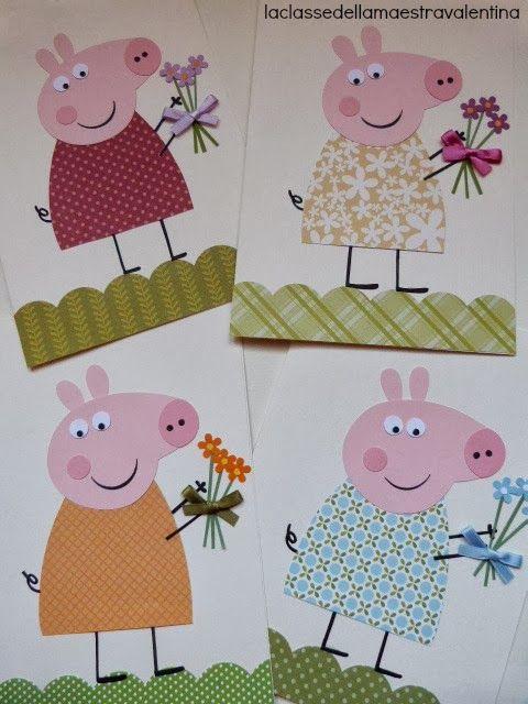 Для срисовки, открытка своими руками свинка пеппа