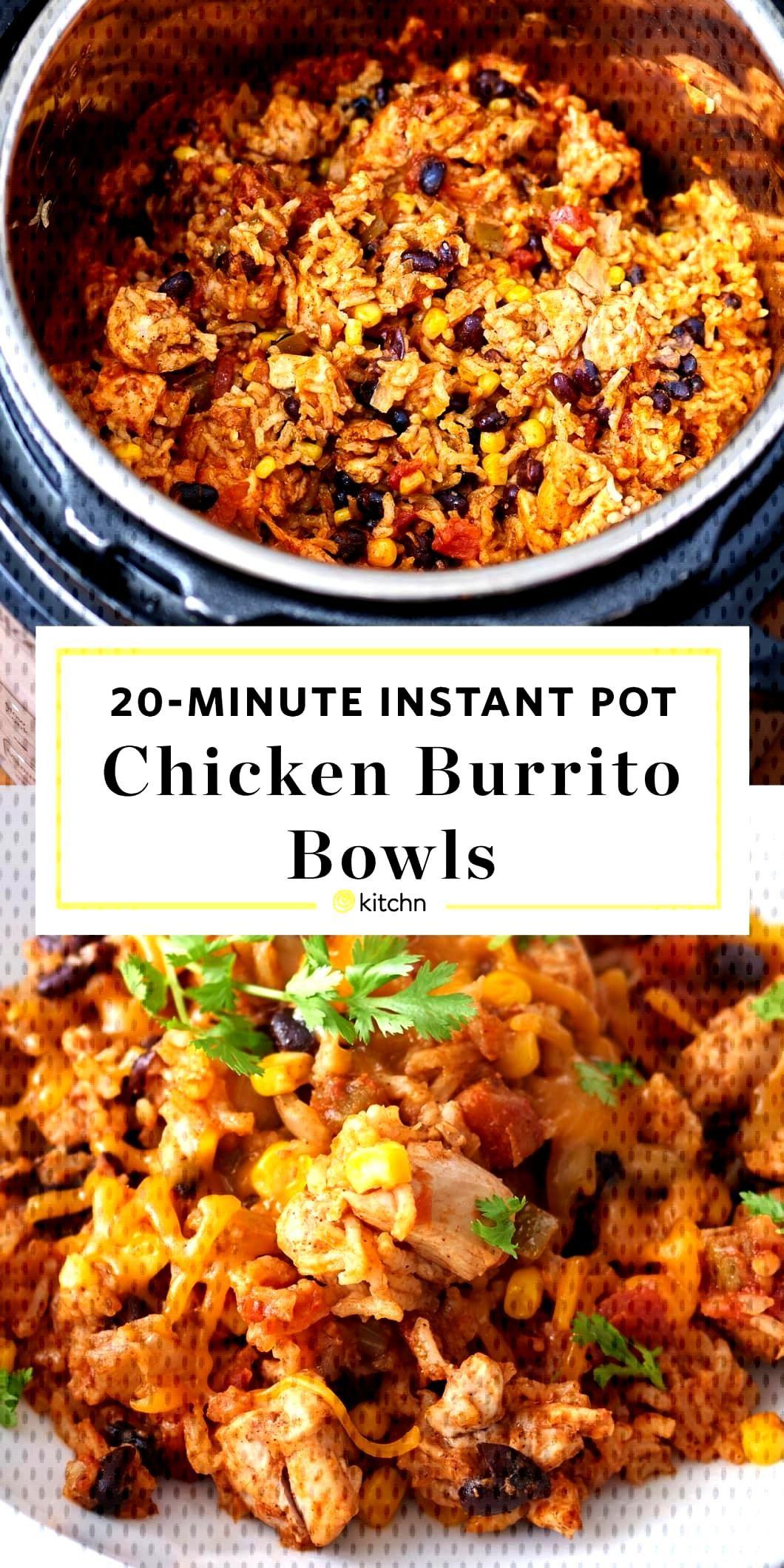 Instant Pot Chicken Burrito Bowls Pressure Cooking Recipe