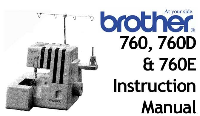 Brother 760 760d 760e Overlocker Serger Users Manual Sewing