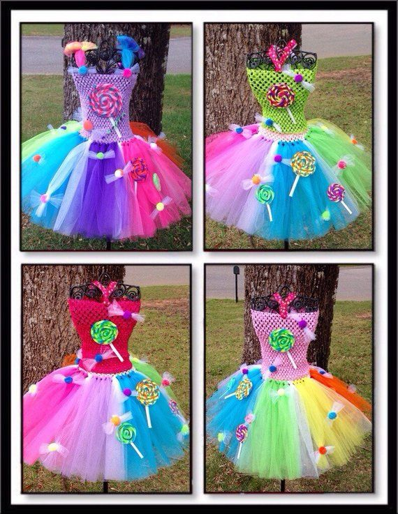 Sweet Lollipop Tutu Dress / Candy Shoppe Tutu / Candy Land Tutu Outfit #crochetdressoutfits