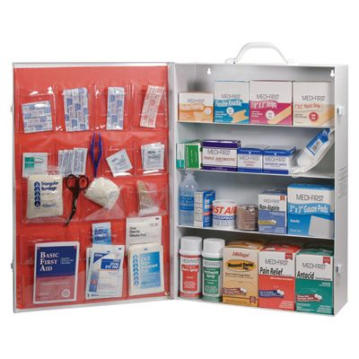 Medique 4 Shelf First Aid Cabinet Model 734m1 First Aid Cabinet Shelves Industrial Cabinet