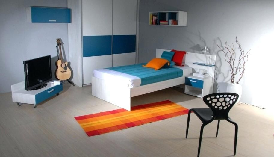Orange und graue Schlafzimmer-Ideen Innenarchitektur 2018 Pinterest