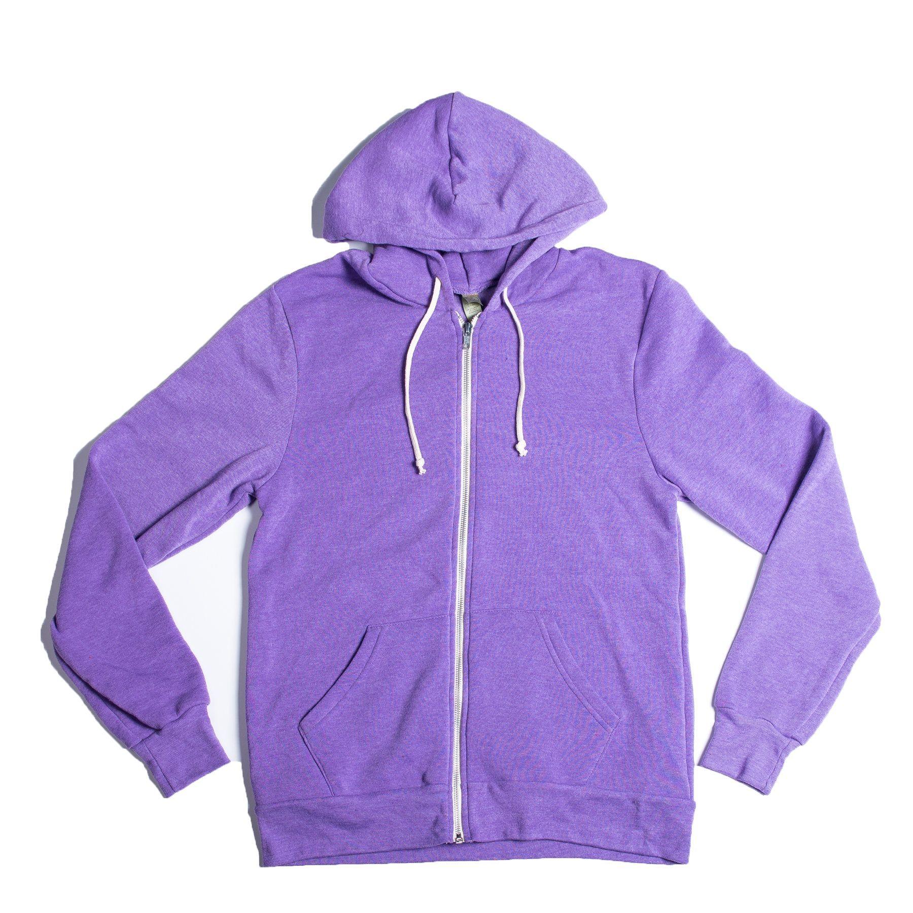 Rocky Unisex Zip Hoodie in Eco True Purple